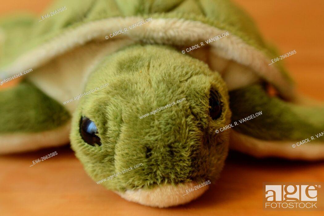 Stock Photo: stuffed children's animal - turtle.