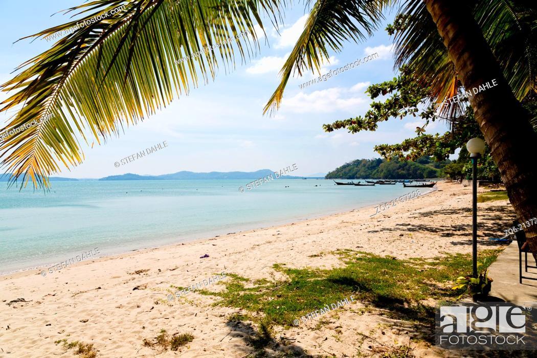 Stock Photo: Beach near Chao Ley on Ko Diray, Phuket Thailand.