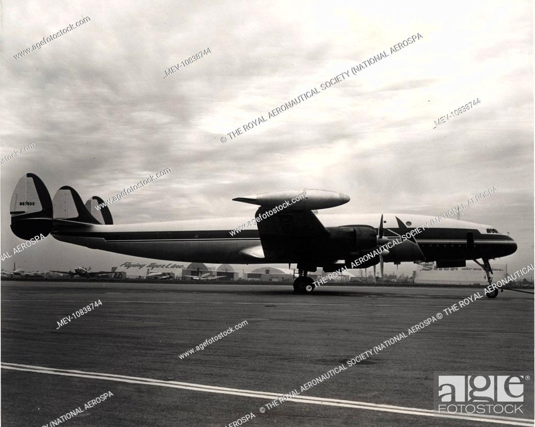 064908352 Stock Photo - The first Lockheed Model 1049 Super Constellation, N67900,  was converted from the original C-69, NX25600.