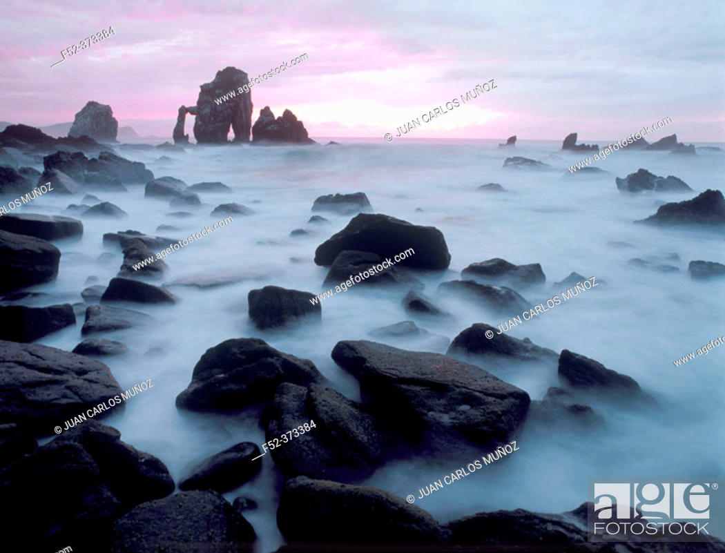Stock Photo: Rocky isles. Gaztelugatxe. Biscay. Spain.