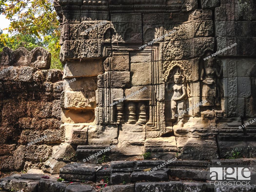 "Stock Photo: Banteay Kdei ( Prasat Banteay Kdei), meaning """"A Citadel of Chambers"""", also known as """"Citadel of Monks' cells"""", is a Buddhist temple in Angkor, Cambodia."
