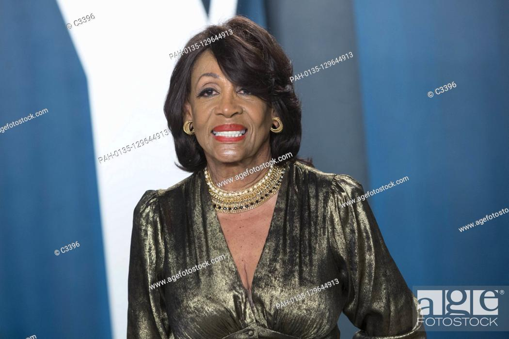 Stock Photo: Maxine Waters attends the Vanity Fair Oscar Party at Wallis Annenberg Center for the Performing Arts in Beverly Hills, Los Angeles, USA, on 09 February 2020.