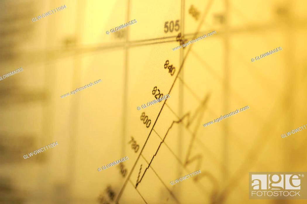 Stock Photo: Close-up of a line graph.