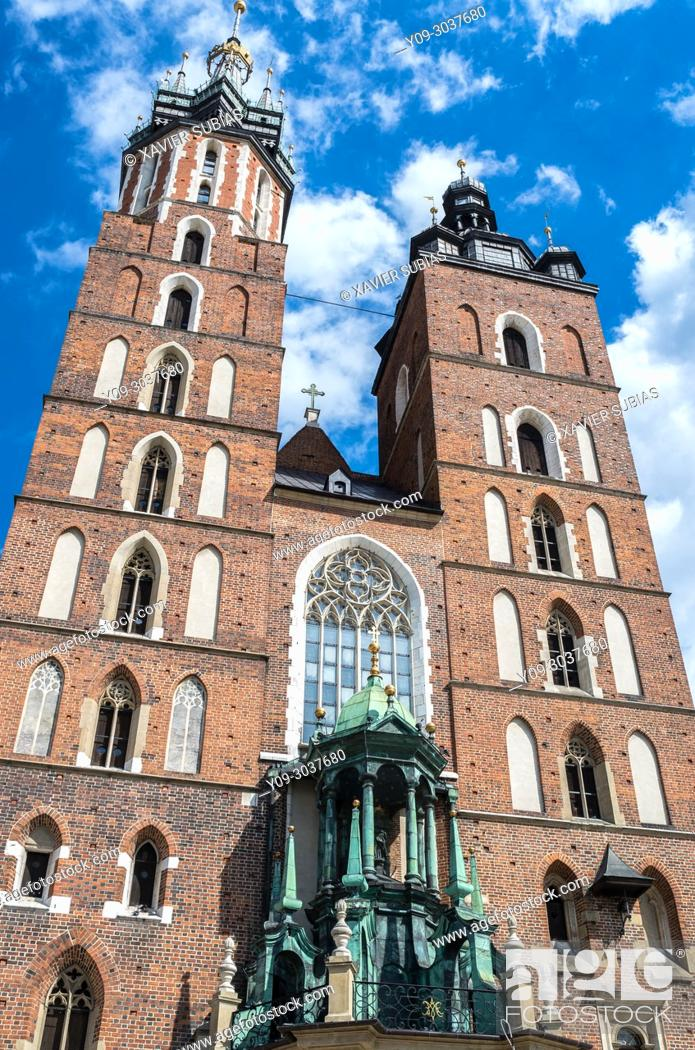 Imagen: Church of Our Lady Assumed into Heaven, St. Mary's Basilica, Krakow, Poland.