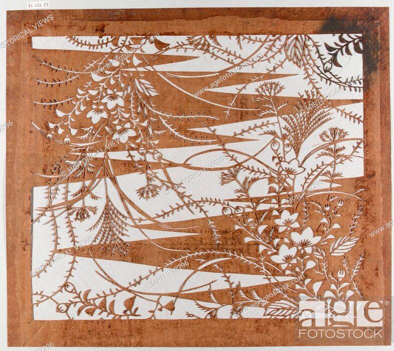 Imagen: Stencil. Period: Edo period (1615-1868); Culture: Japan; Medium: Paper; Dimensions: 16 x 14 in. (40.64 x 35.56 cm); Classification: Stencils; Credit Line: Gift.