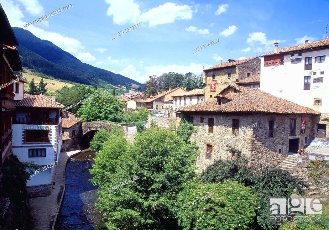 Stock Photo: Overview. Potes, Cantabria, Spain.