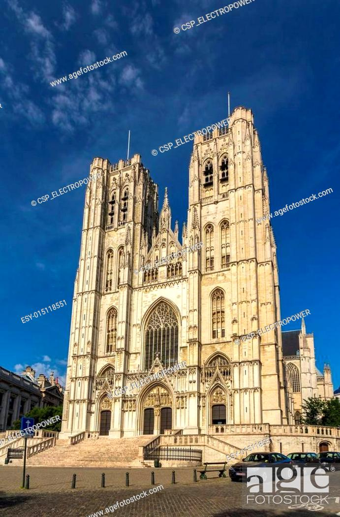 Photo de stock: Cathedral of St. Michael and St. Gudula in Brussels, Belgium.