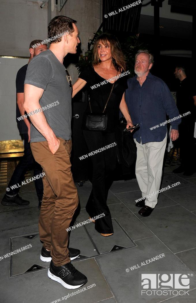 Michael Fassbender enjoys dinner at Scott's restaurant in