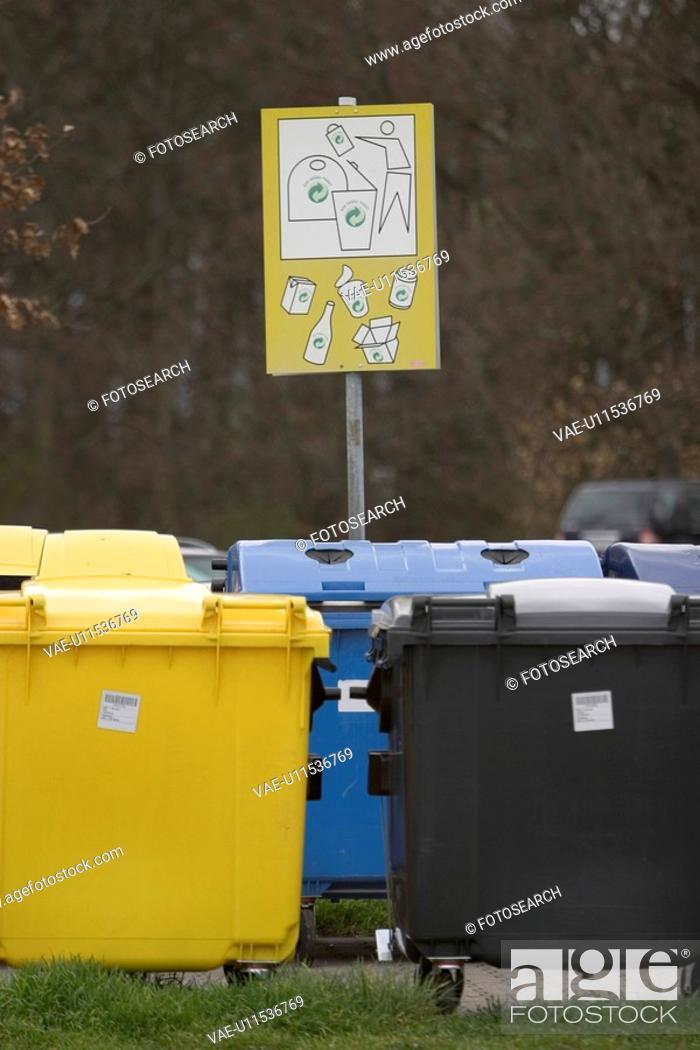 Stock Photo: trash can, basket, garbage, shadow, dustbin.