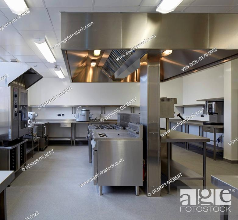 Stainless steel kitchen  St Michael's Hospice, Hereford, United