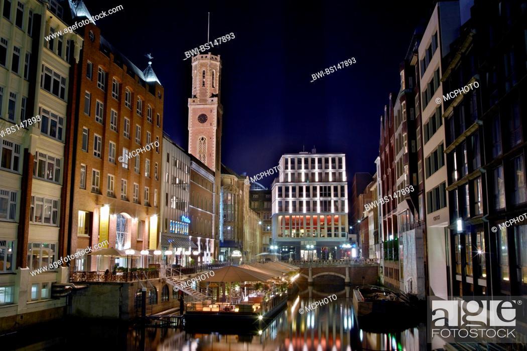 Stock Photo: Bleichenfleet in Hamburg, Germany, Hamburg.