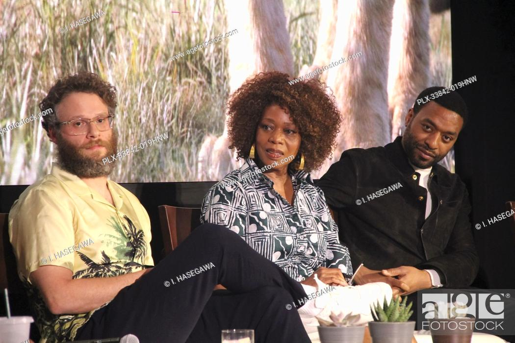 "Stock Photo: Seth Rogen, Alfre Woodard, Chiwetel Ejiofor 07/10/2019 """"The Lion King"""" Press Conference held at the Montage Beverly Hills Luxury Hotel in Beverly Hills, CA."
