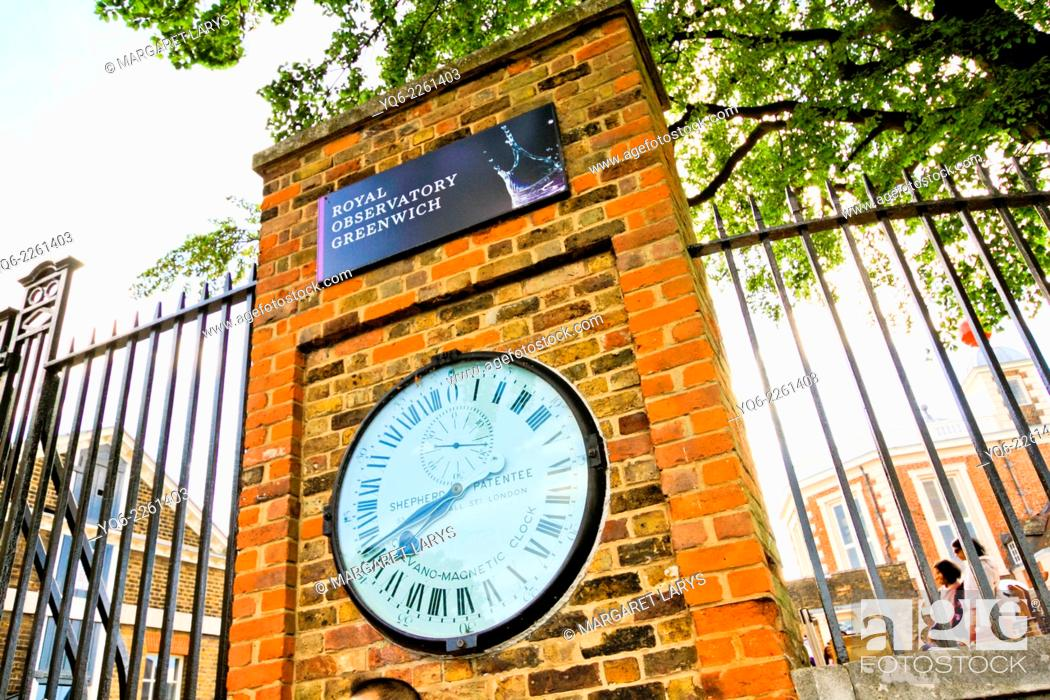 Stock Photo: The Royal Observatory, Greenwich near London, United Kingdom.