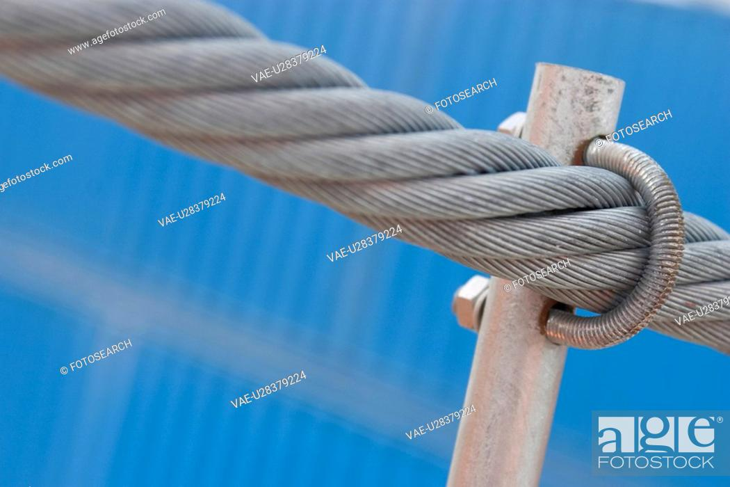 Stock Photo: rod, ropes, braided, detail, background, rope.