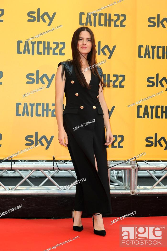 Stock Photo: Italian actress Ivana Lotito attends the premiere of the Sky TV serie Catch-22. Rome (Italy), May 13th, 2019.