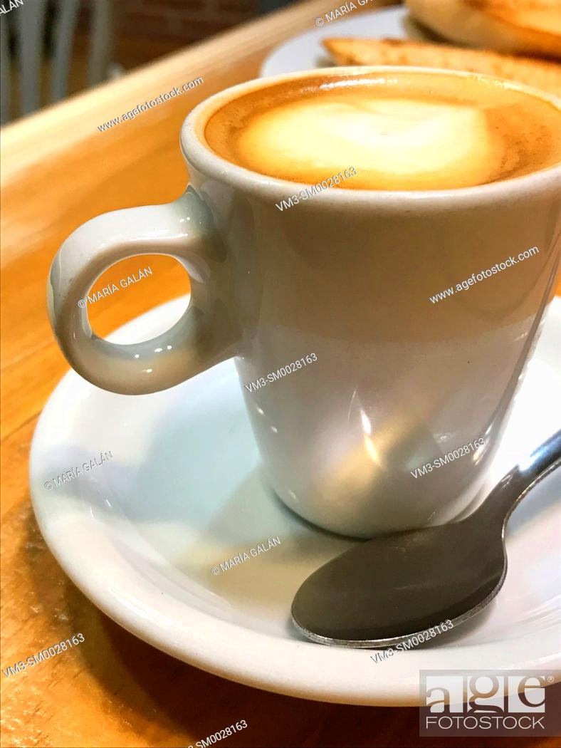 Photo de stock: Cup of coffee. Close view.