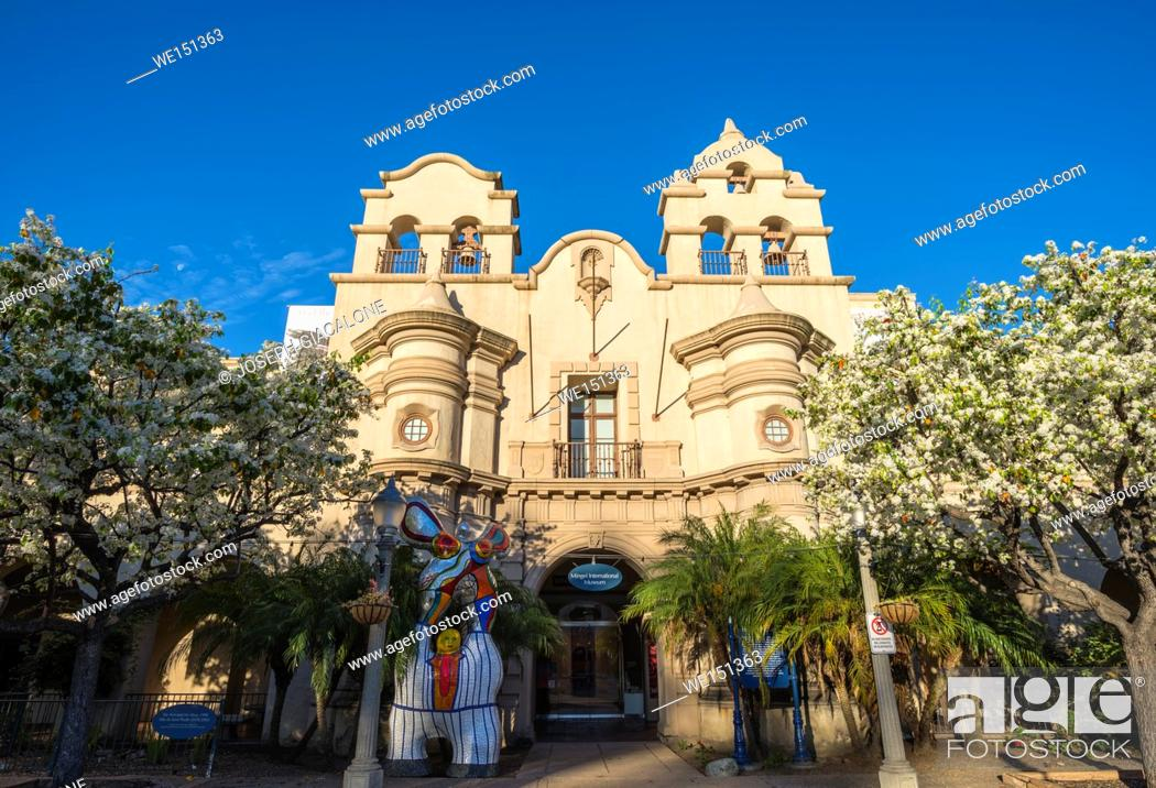 Stock Photo: The House of Charm building in the early morning. Balboa Park, San Diego, California, USA.