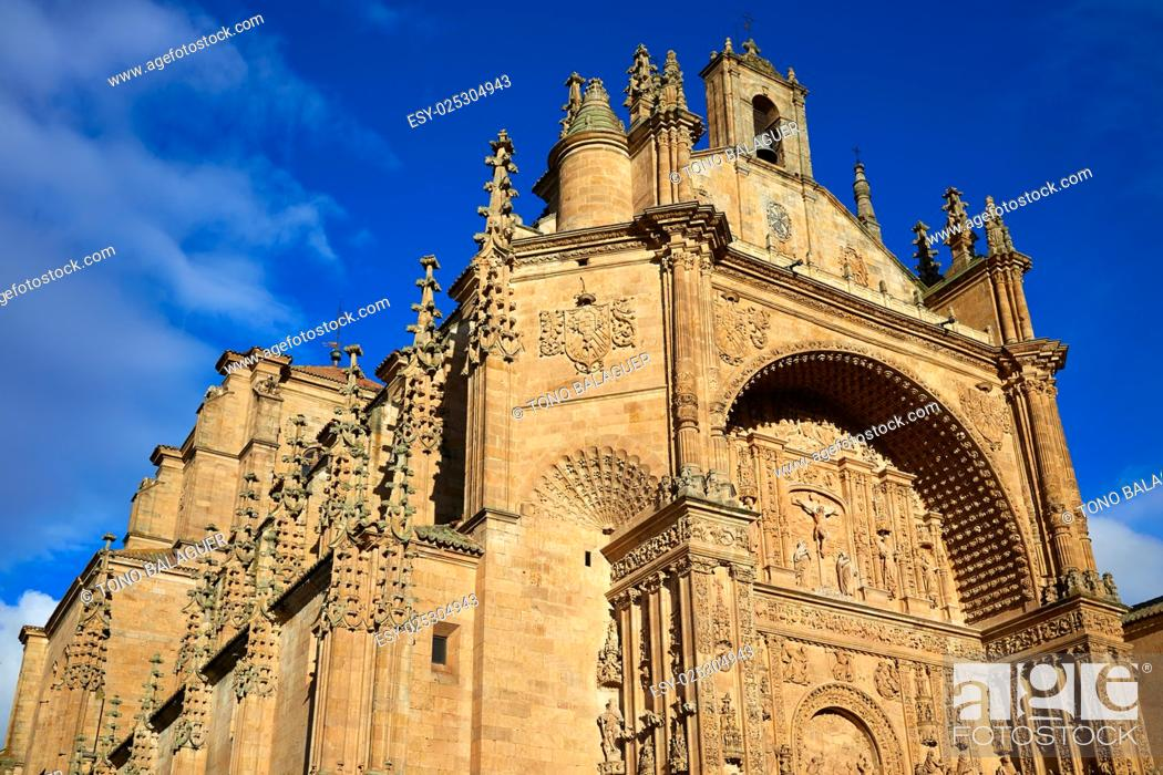 Stock Photo: San Esteban Convent in Salamanca at Spain of Dominicos.