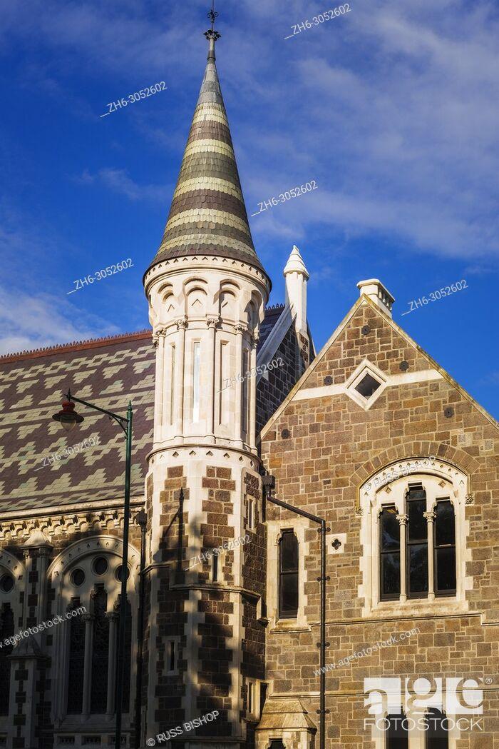 Photo de stock: The Arts Centre, Christchurch, Canterbury, South Island, New Zealand.