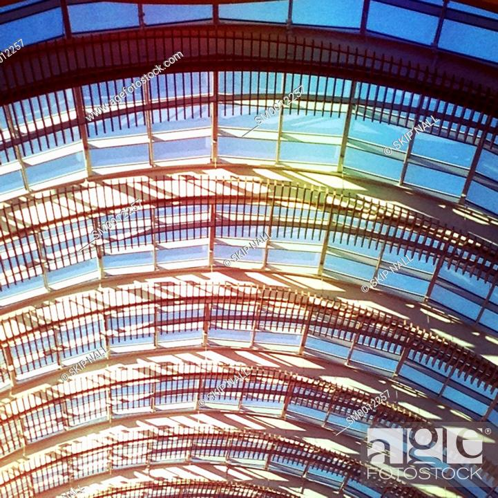 Stock Photo: A skylight in a mall.