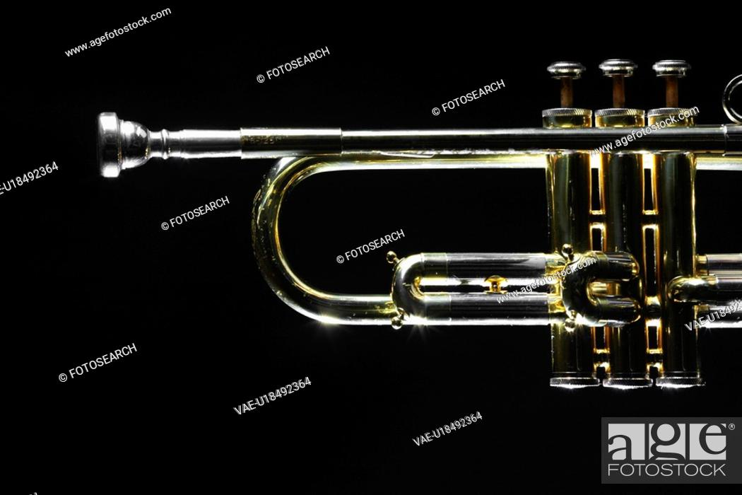 Stock Photo: Close-up of trumpet.