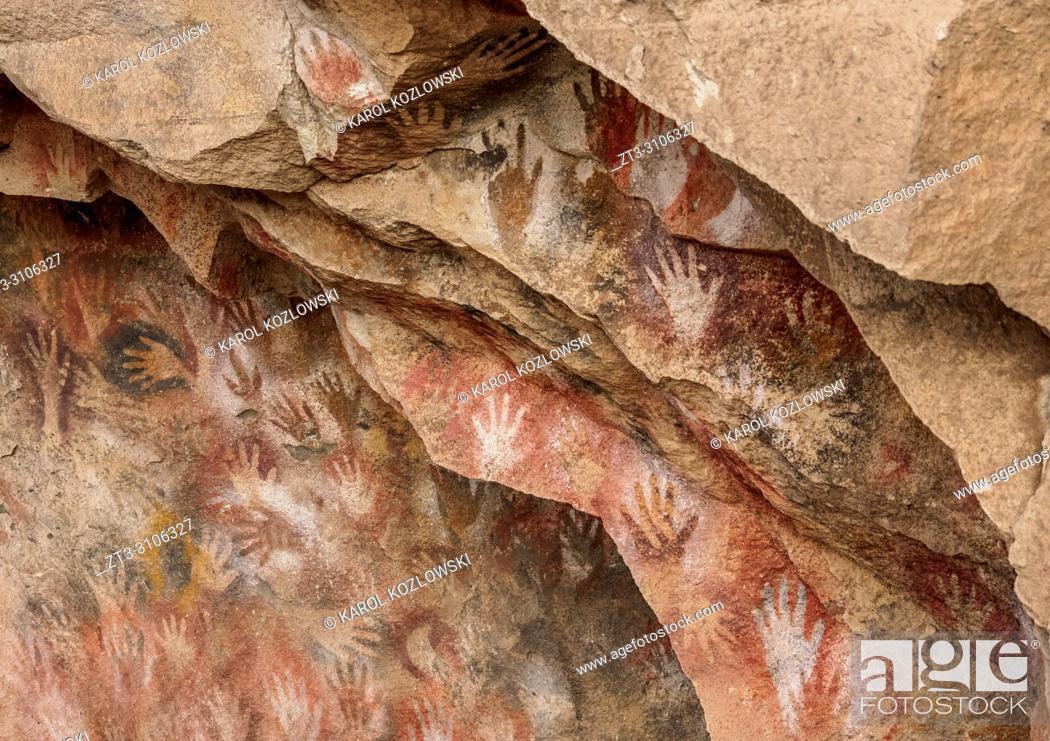 Imagen: Cueva de las Manos, UNESCO World Heritage Site, Rio Pinturas Canyon, Santa Cruz Province, Patagonia, Argentina.