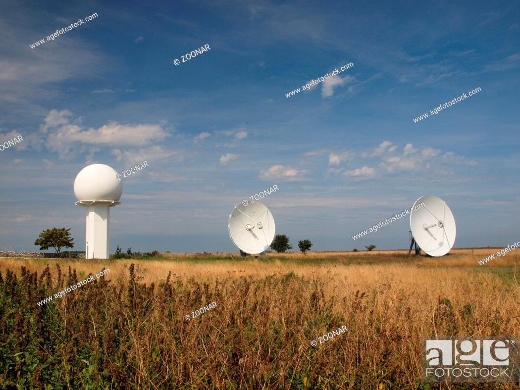 Die Radar-, Funk-, Satellitenanlage auf der Halbinsel Faludden auf
