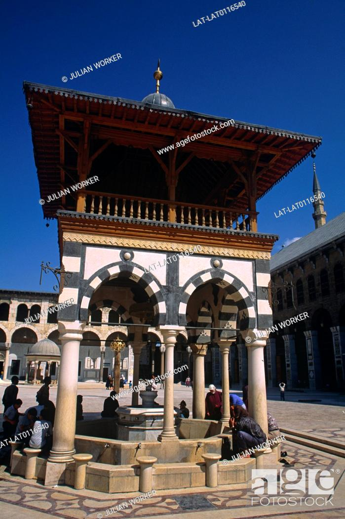 The Umayyad Mosque,or the Grand Mosque of Damascus is one of