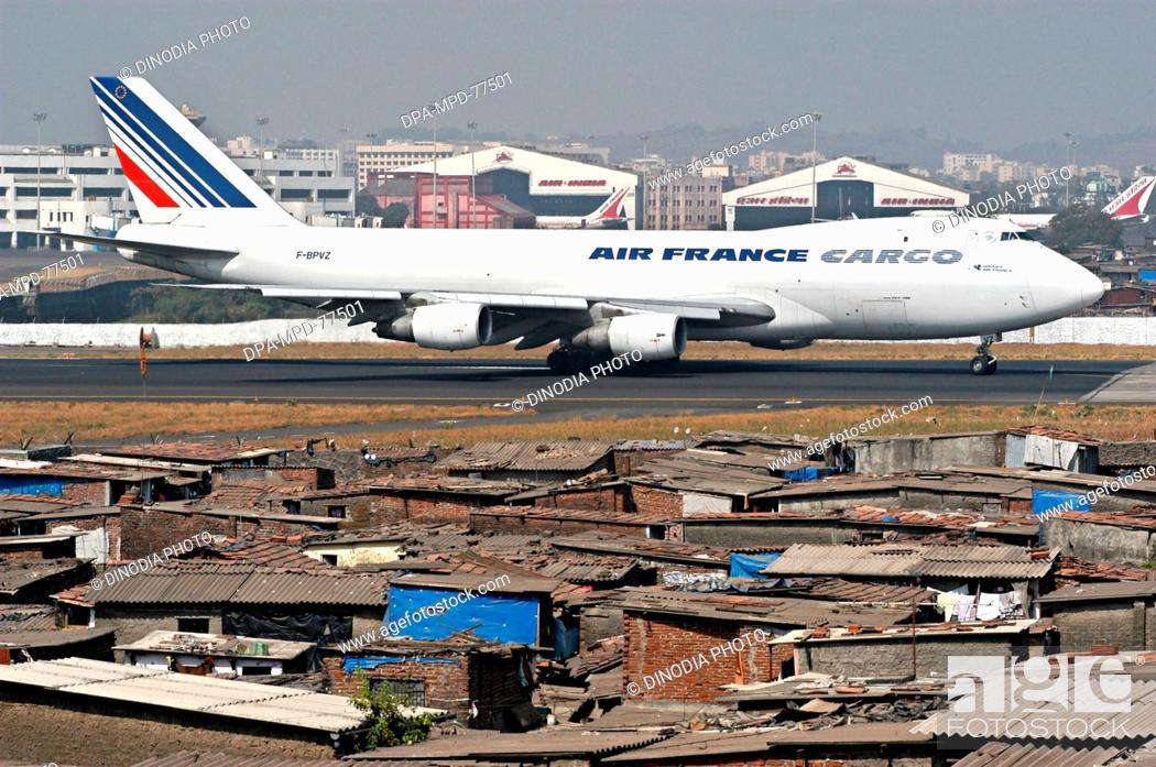 An Air India plane standing at the Chhatrapati Aeroplane