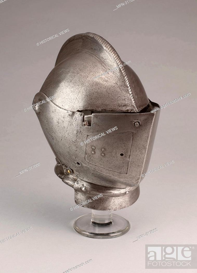 Stock Photo: Close Helmet for the Joust - 1580/90 - Italian; Milan. Steel. 1570 - 1600. Northern Italy.