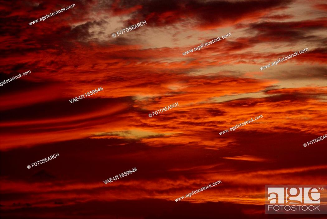 Stock Photo: Sunset Clouds.