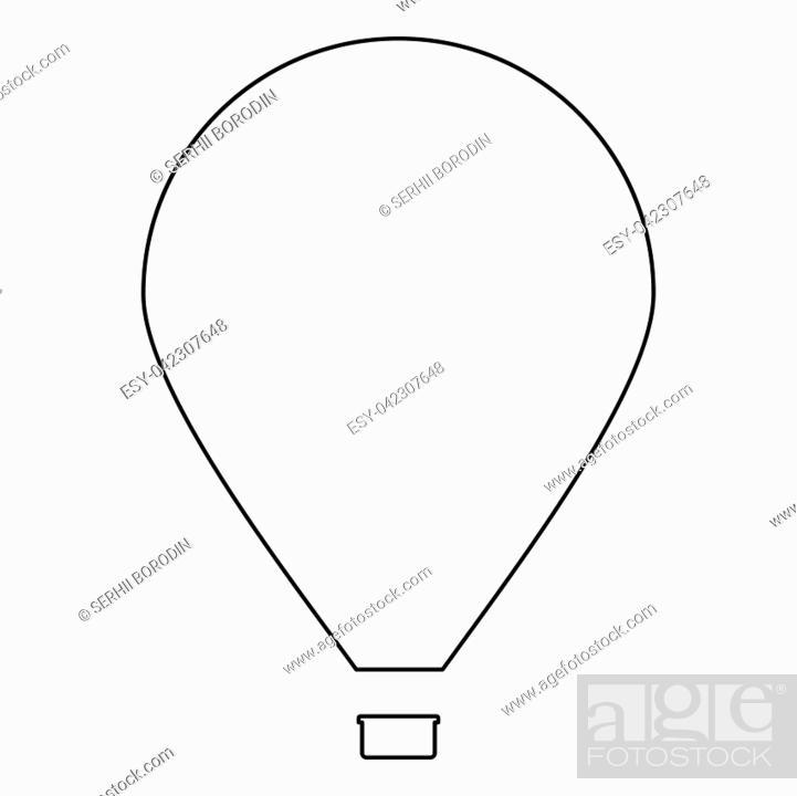 Vector: Hot air balloon.