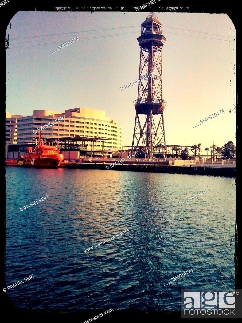 Stock Photo: Harbor of Barcelona, Catalonia.
