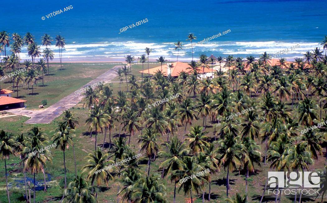 Stock Photo: Aerial view; Porto de Galinhas; Pernambuco; Brazil.