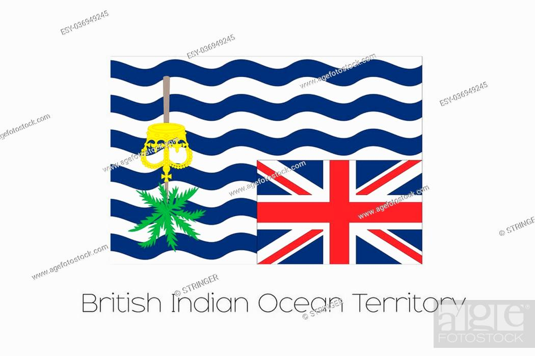Stock Photo: A 180 Degree Rotated Flag of British Indian Ocean Territory.