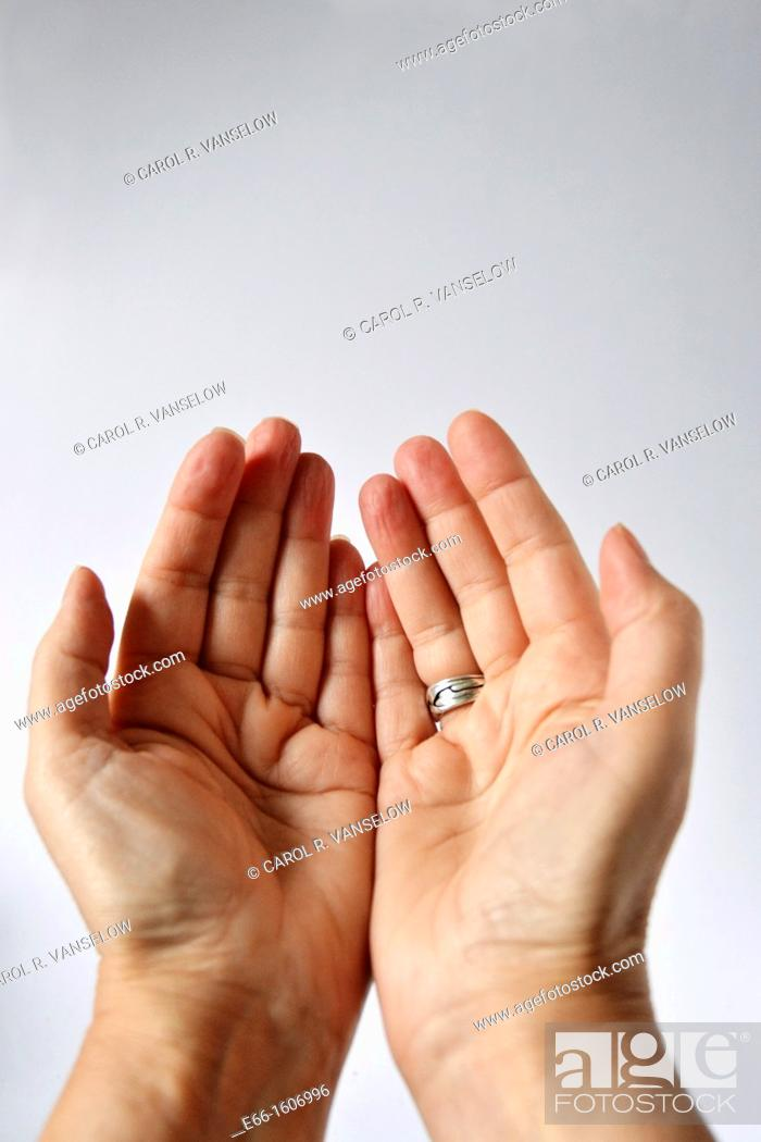 Stock Photo: praying hands- muslim.