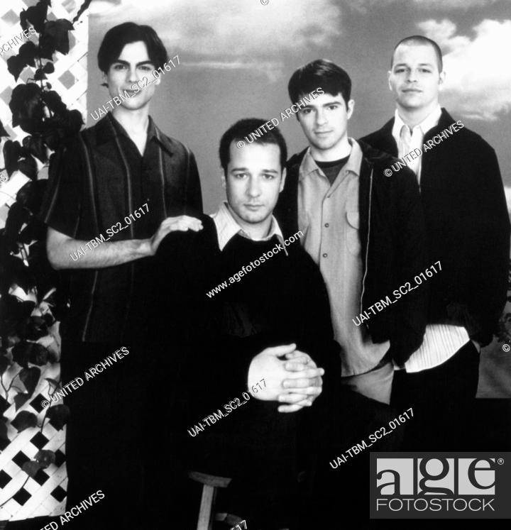 Stock Photo: Die amerikanische Alternative Rock Band Weezer bestehend aus Brian Bell, Patrick Wilson, Matt Sharp und Rivers Cuomo, 1990er Jahre.