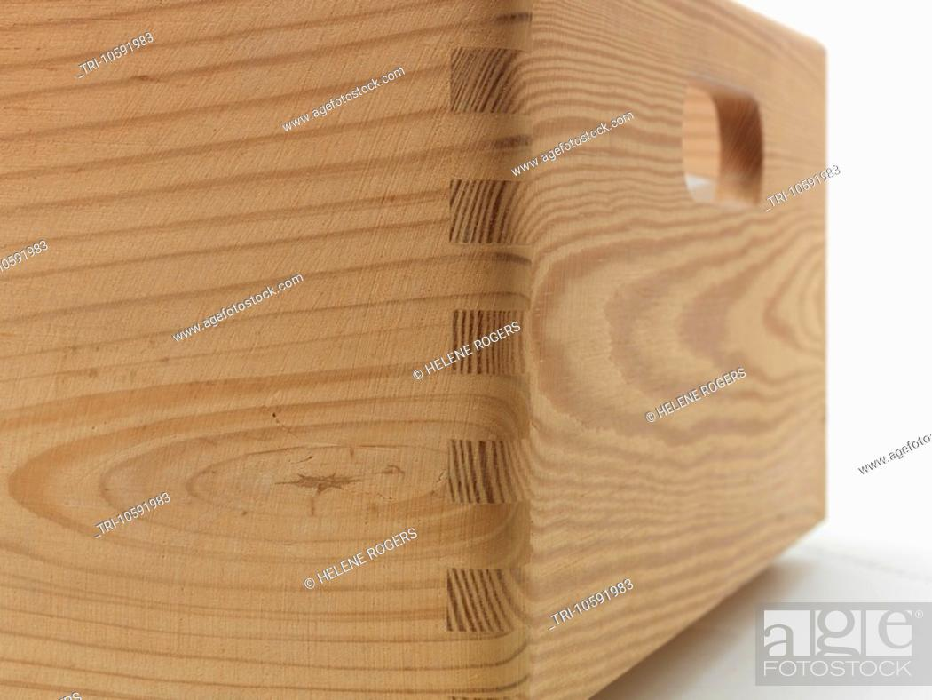 Dovetail Joint Wooden Box Stock Photo Picture And Rights