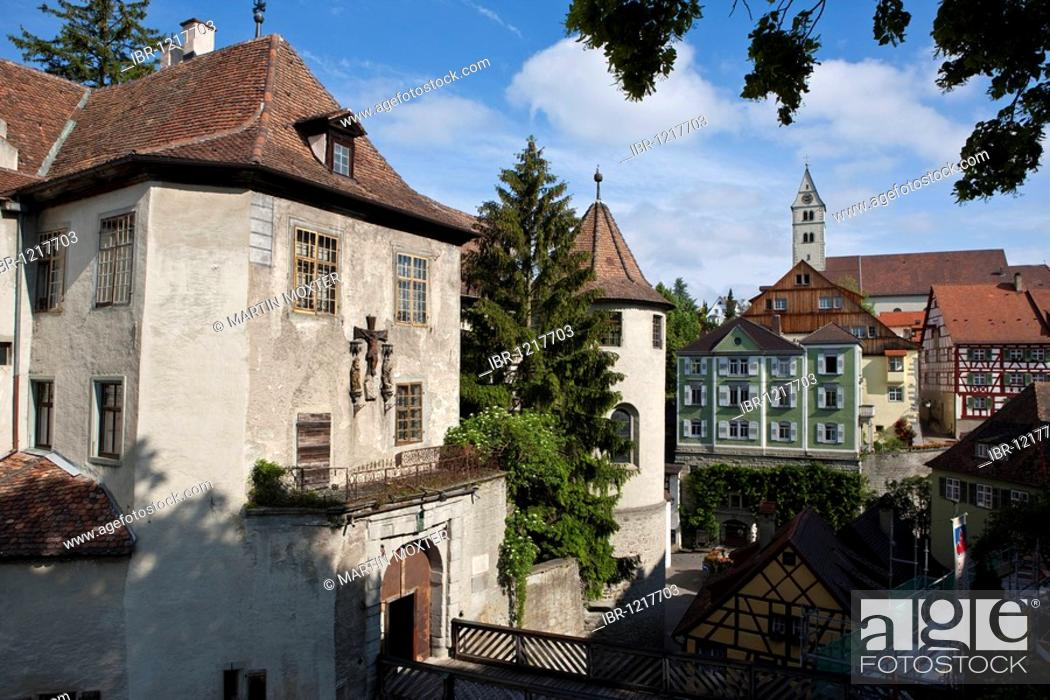 Stock Photo: The Altes Schloss old castle, Meersburg on Lake Constance, administrative district of Tuebingen, Bodenseekreis district, Baden-Wuerttemberg, Germany, Europe.