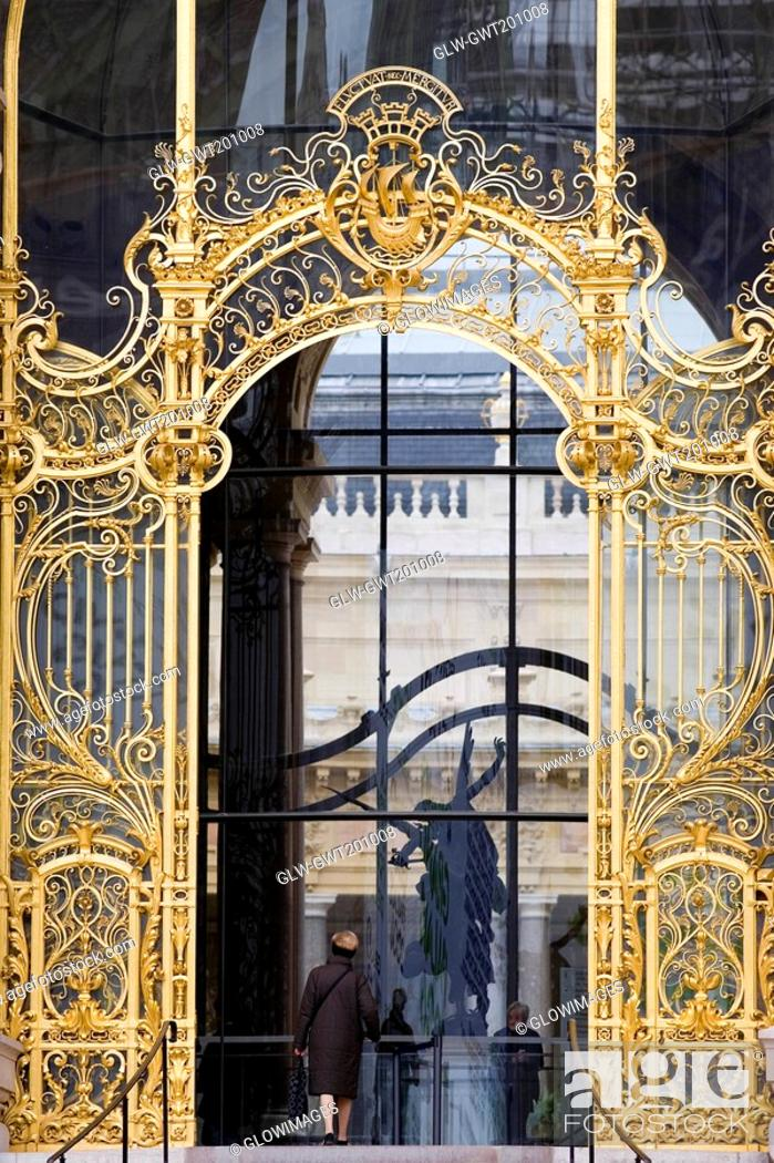 Stock Photo: Close-up of a gate, Rome, Italy.