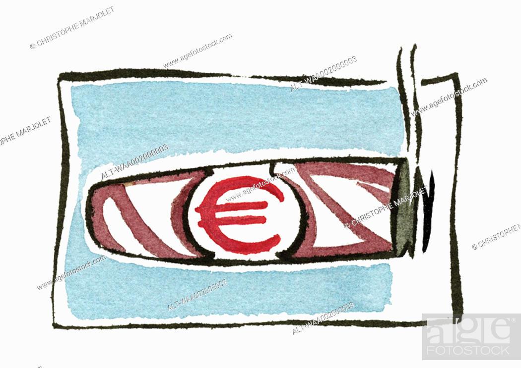 Stock Photo: Euro cigar.
