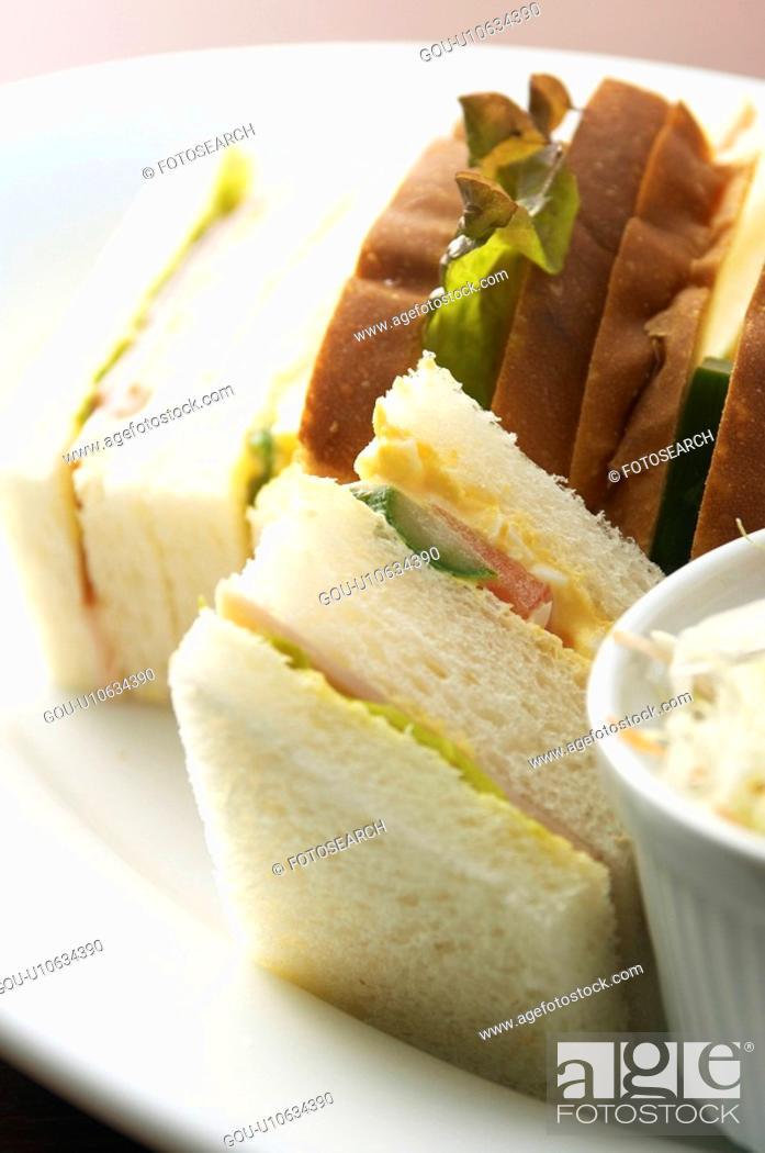 Stock Photo: Sandwich close-up.