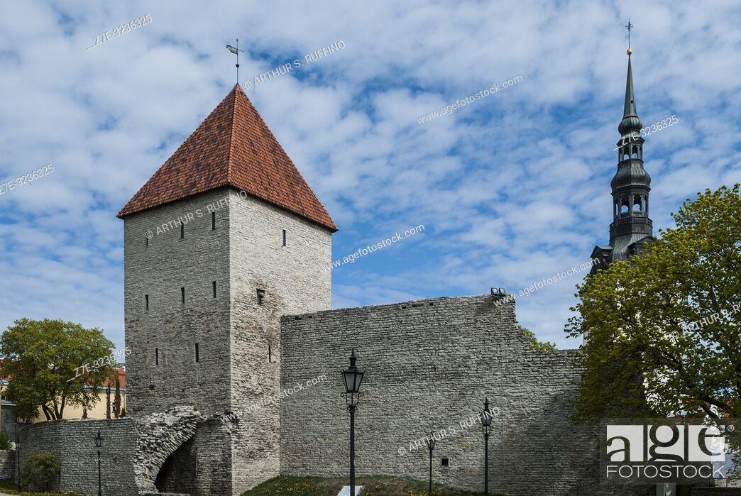 Imagen: Maiden's Tower (Neitsitorn), Tallinn's City Walls, Old Town, Tallinn, Estonia, Baltic States.