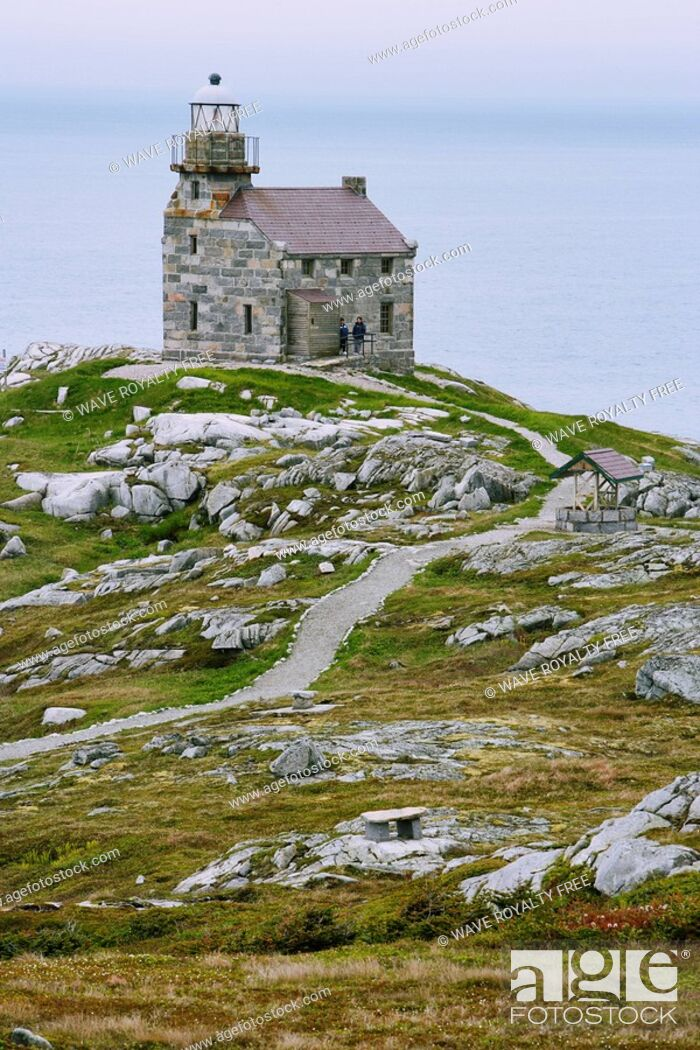 Stock Photo: View of lighthouse, Rose Blanche, Newfoundland, Canada.