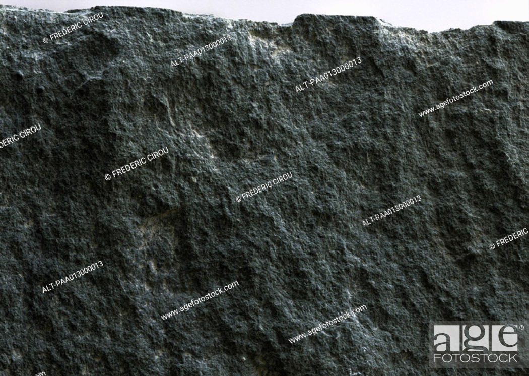 Stock Photo: Gray stone, rough texture, close up.