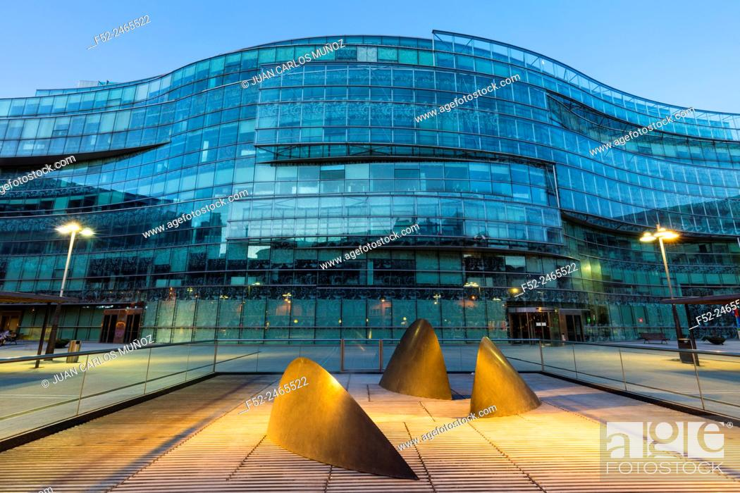 Stock Photo: Plaza Bizkaia building, Bilbao, Bizkaia, Basque Country, Spain, Europe.