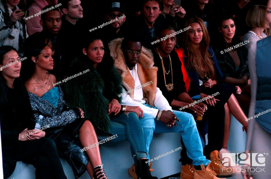 161279baa Stock Photo - Mercedes Benz Fashion Week - Kanye West and Adidas Originals  - Inside Featuring  Rihanna