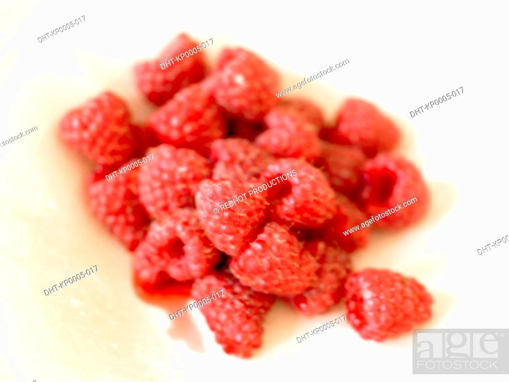 Stock Photo: Food, Fruit, Raspberries.