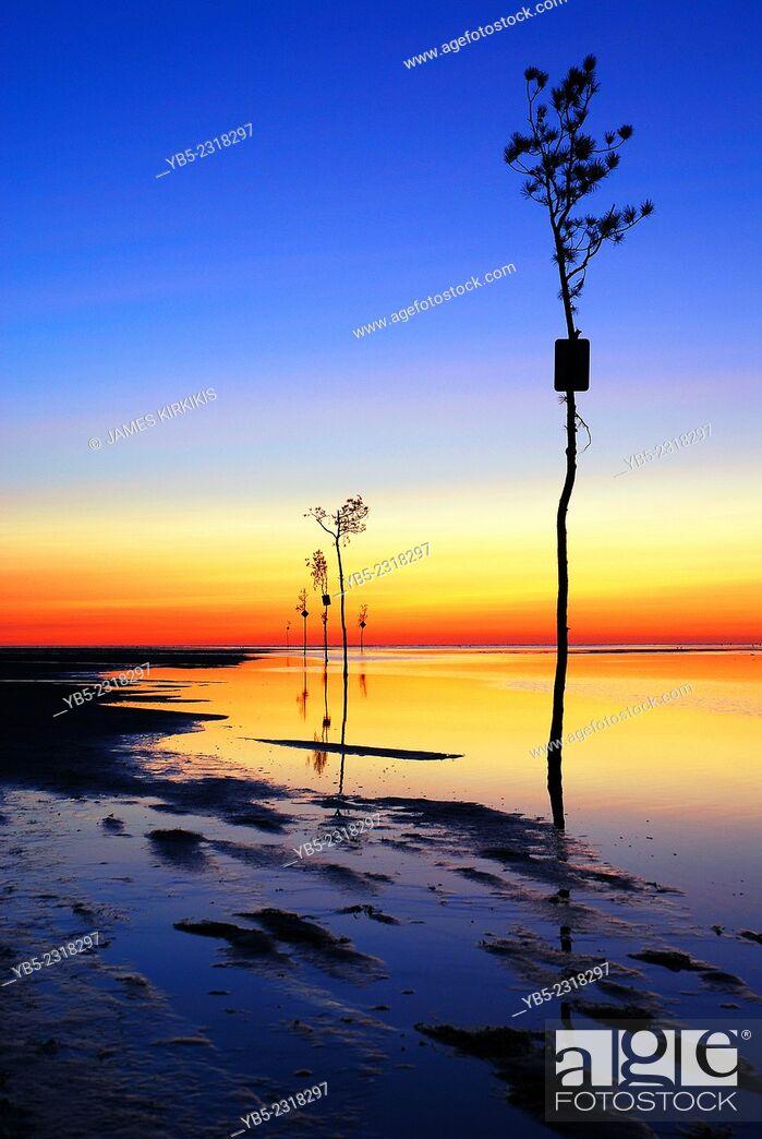 Stock Photo: Rock Harbor Sunset, Cape Cod.