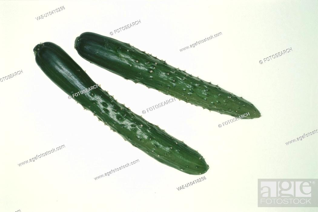 Stock Photo: Two Cucumbers.